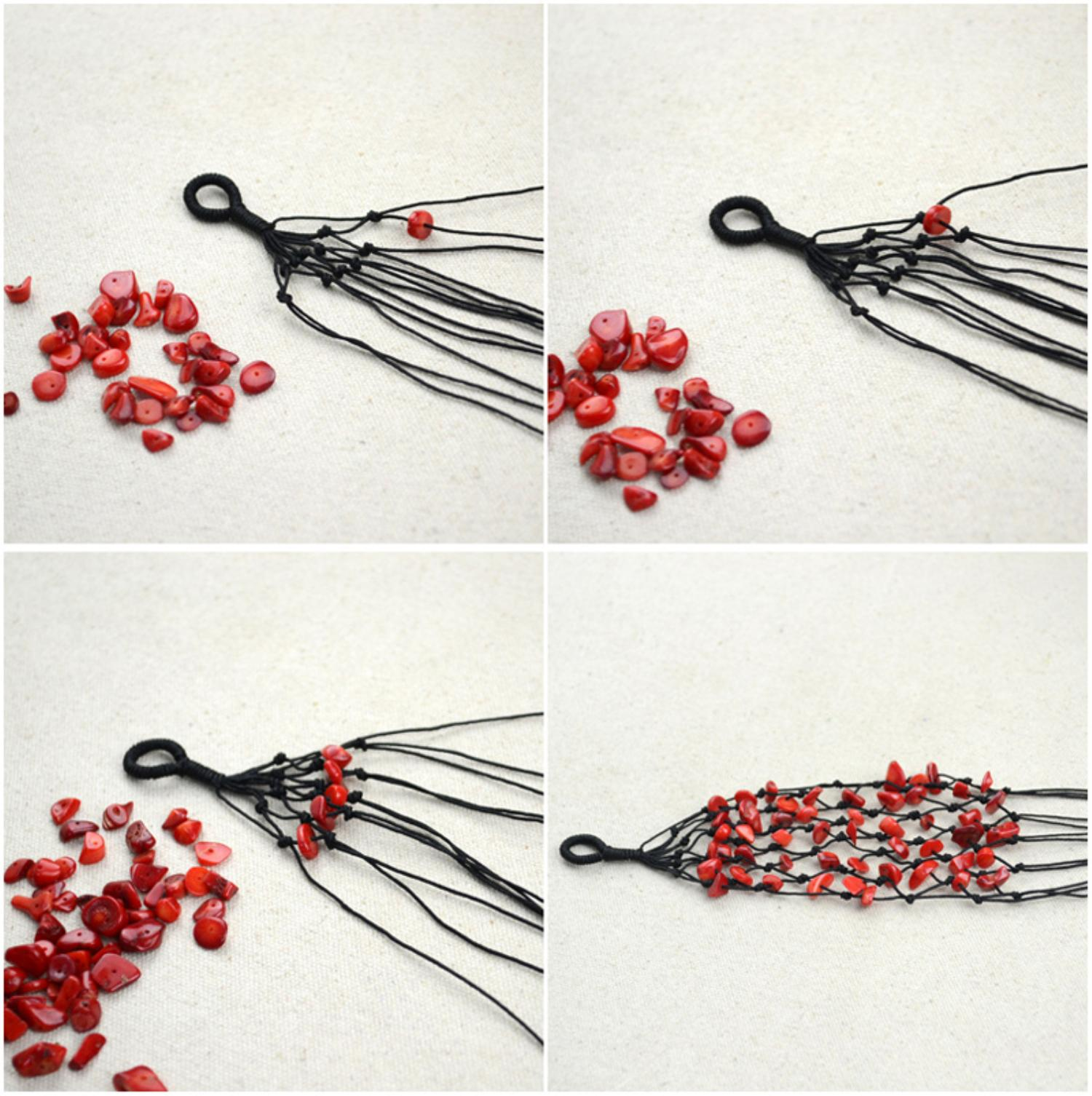 Как сделать браслет из бисера из нитки