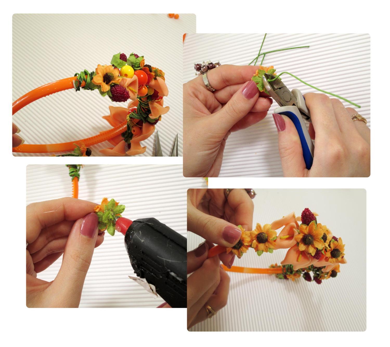 Обруч своим руками из цветов 492