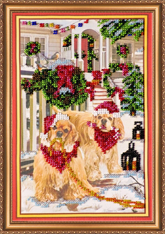Рождественская вышивка бисером